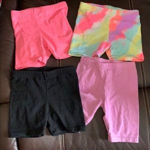 Bundle of little girls biker shorts